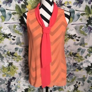 Spence sleeveless button down blouse M